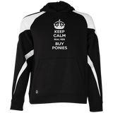 Keep Calm Real Men Buy Ponies (white) 229646 Holloway Youth Colorblock Hoodie