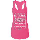 All a Girl Wants  Next Level Ladies Ideal Racerback Tank