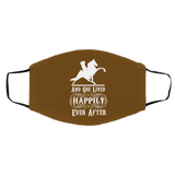 HAPPILY EVER AFTER (TWH Performance) wht FMA Med/Lg Face Mask