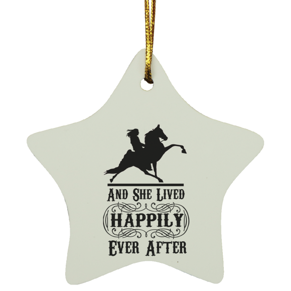 HAPPILY EVER AFTER (TWH Performance) Blk SUBORNS Star Ornament