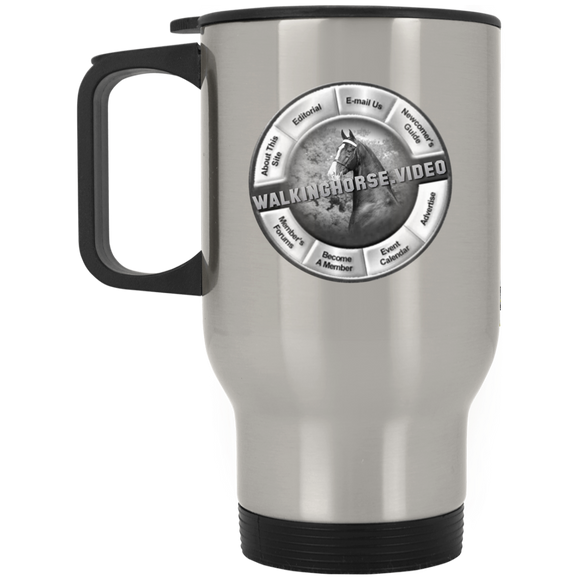 WALKINGHORSE.VIDEO XP8400S Silver Stainless Travel Mug