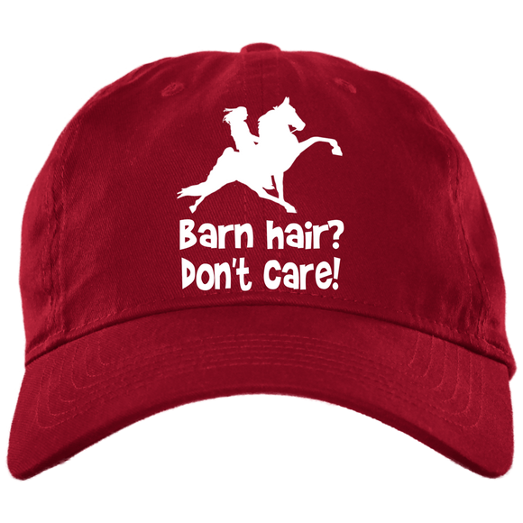 BARN HAIR, DONT CARE (TWH PERFORMANCE) BX001 Brushed Twill Unstructured Dad Cap