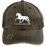 Tennessee Walking Horse (Pleasure) with letters 6990 Distressed Unstructured Trucker Cap