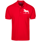 Tennessee Walking Horse (Pleasure) with letters K420 Port Authority Cotton Pique Knit Polo