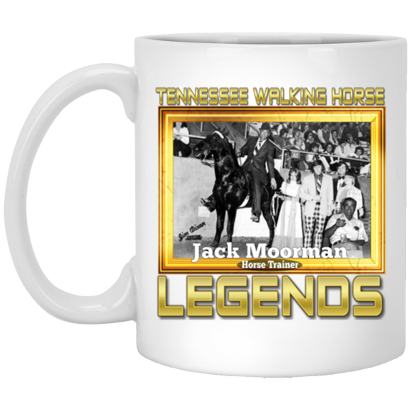 JACK MOORMAN (Legends Series) XP8434 11 oz. White Mug