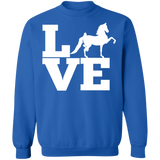 Love (Saddlebred) - Copy G180 Gildan Crewneck Pullover Sweatshirt  8 oz.