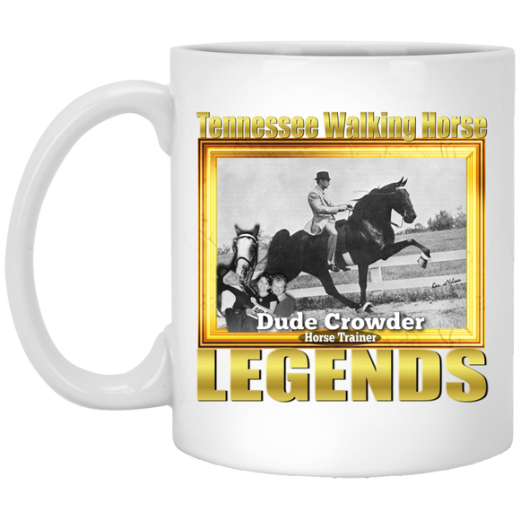 DUDE CROWDER (Legends Series) XP8434 11 oz. White Mug