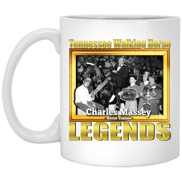 CHARLES MASSEY (Legends Series) XP8434 11 oz. White Mug