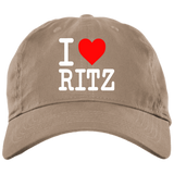 I LOVE RITZ BX001 Brushed Twill Unstructured Dad Cap