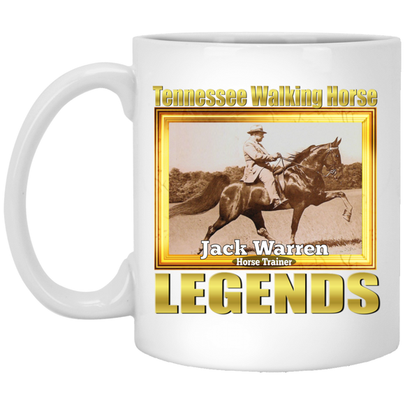 JACK WARREN (Legends Series) XP8434 11 oz. White Mug