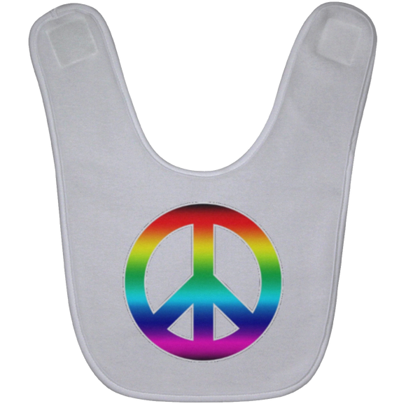 PEACE SIGN BABYBIB Baby Bib
