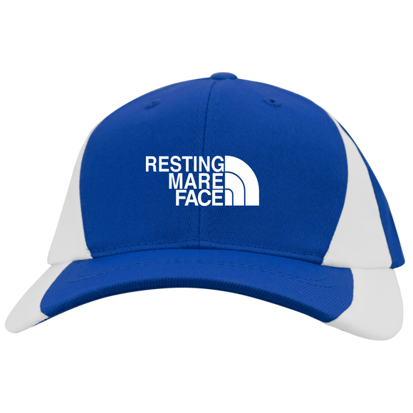RESTING MARE FACE (white) YSTC11 Youth Mid-Profile Colorblock Cap