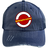 WHC LOGO 2020 (2) 6990 Distressed Unstructured Trucker Cap