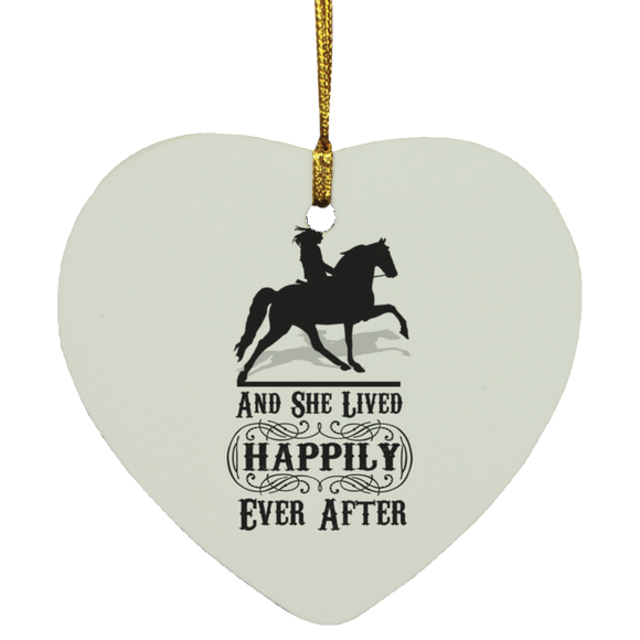 HAPPILY EVER AFTER (TWH Pleasure) Blk SUBORNH Heart Ornament