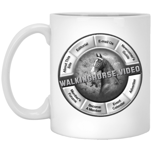 WALKINGHORSE.VIDEO XP8434 11 oz. White Mug