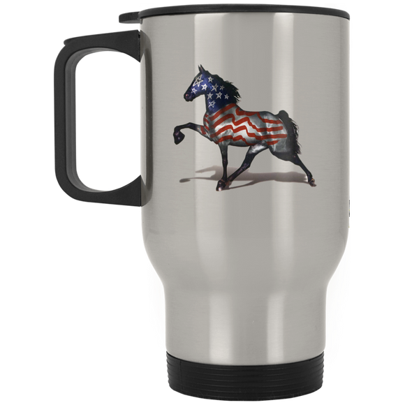 THE ALL AMERICAN HORSE XP8400S Silver Stainless Travel Mug