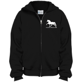Tennessee Walking Horse (Pleasure) with letters PC90YZH Port & Co. Youth Full Zip Hoodie
