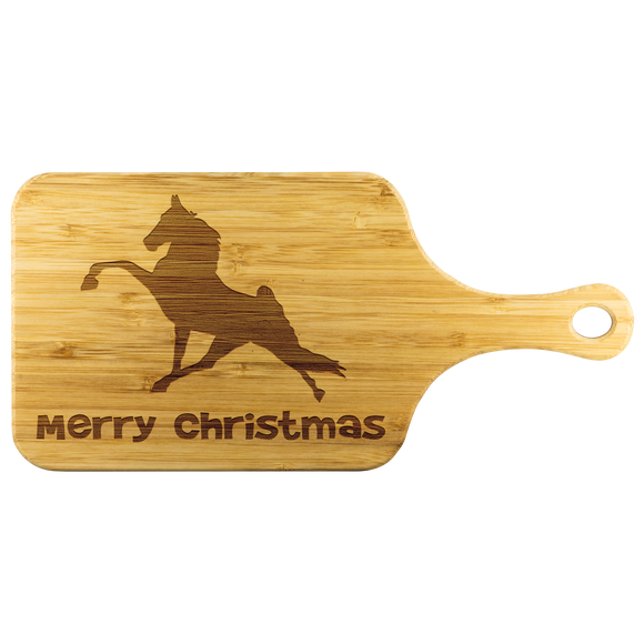 TWH Performance Merry Christmas Wood Cutting Board With Handle