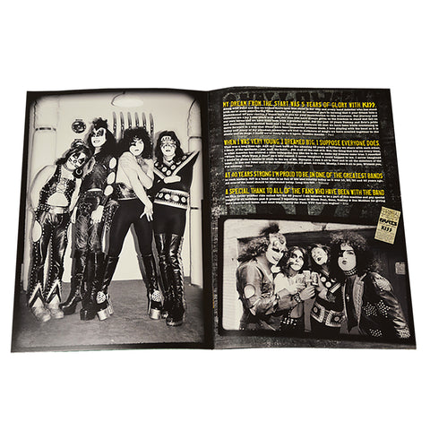 KISS 40 Years Decades of Decibels Tour Book - inside
