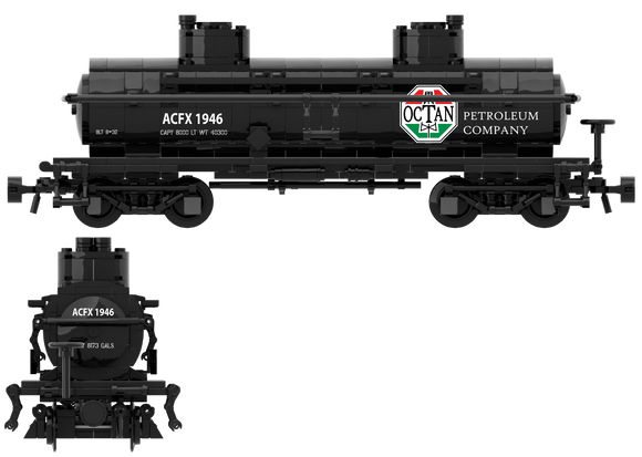 1920's, OCTAN Inspired, Decals for the ACF Type 27 Tank Car