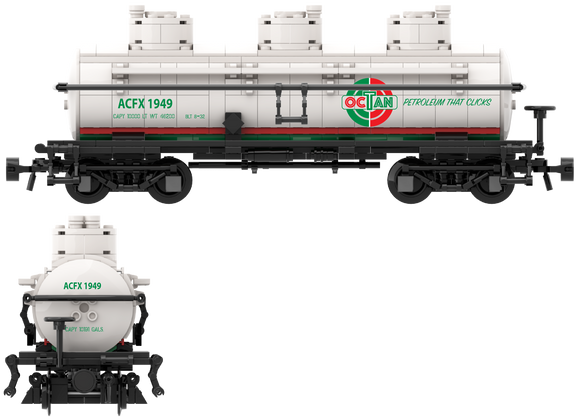 1940's, OCTAN Inspired, Decals for the ACF Type 27 Tank Car