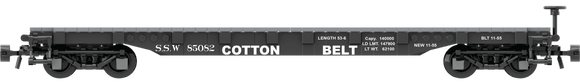 Cotton Belt Decals for the AAR 53' Flat Car