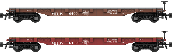 Milwaukee Road Decals for the AAR 53' Flat Car