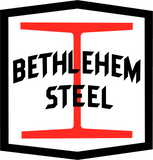 "Bethlehem Steel I-Beam Decal Set for the 52'-6"" 70 Ton Drop-End Gondola"