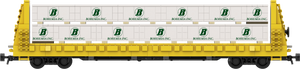 "Bohemia Lumber Load Decals for the Thrall 61'-1"" Bulkhead Flatcar"
