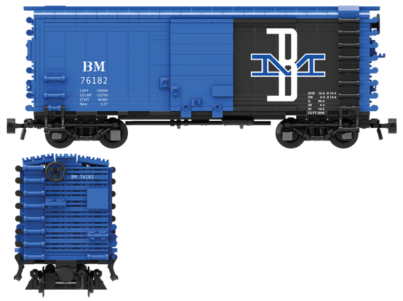 Boston & Maine Decals for the Pullman PS-1 Boxcar