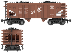 "Chicago Burlington & Quincy ""Everywhere West"" Decals for the USRA 55-Ton Hopper"