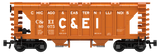 Chicago & Eastern Illinois Decals for the ACF 70-Ton 1958 Cu. Ft. Covered Hopper