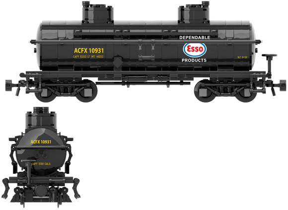 ESSO Decals for the ACF Type 27 Tank Car