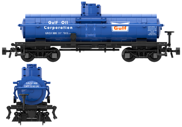 Gulf Oil Decals for the ACF Type 27 Tank Car