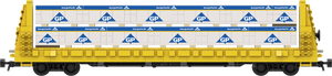 "Georgia Pacific Lumber Load Decals for the Thrall 61'-1"" Bulkhead Flatcar"