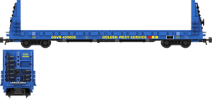 "Golden West Service Decals for the Thrall 61'-1"" Bulkhead Flatcar"