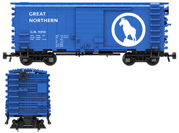Great Northern Decals for the Pullman PS-1 Boxcar