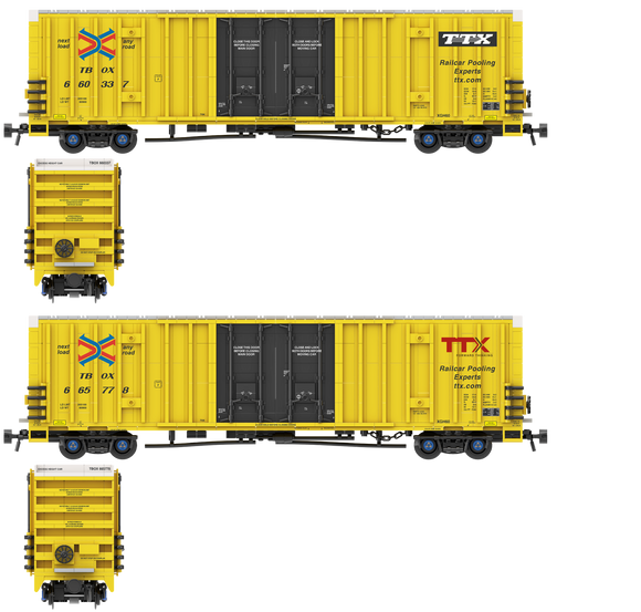 TTX TBOX Decals for the Gunderson 60' High Cube Boxcar