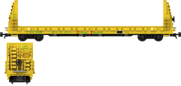 Illinois Terminal Railroad Decals for the Thrall 61'-1