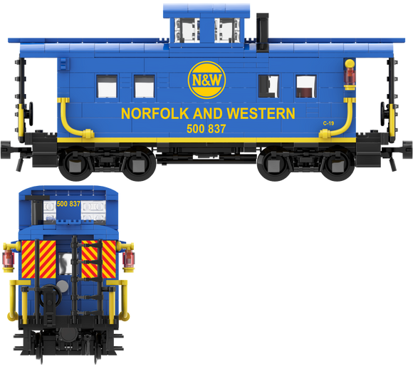 Norfolk & Western (Blue and Yellow Hamburger Scheme) Decals for the Northeastern Caboose