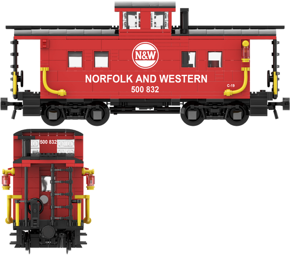 Norfolk & Western (Red and White Hamburger Scheme) Decals for the Northeastern Caboose
