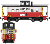 "Western Maryland ""Circus Scheme"" Decals for the Northeastern Caboose"
