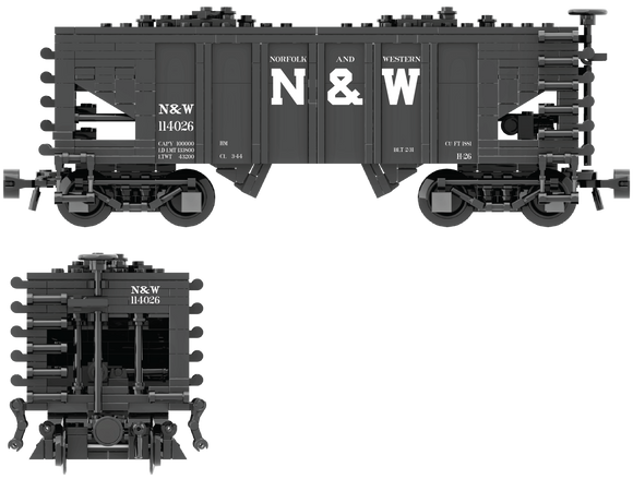 Norfolk & Western Decals for the USRA 55-Ton Hopper