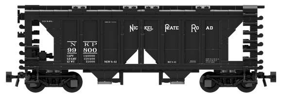 Nickel Plate Road Decals for the ACF 70-Ton 1958 Cu. Ft. Covered Hopper
