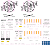 OKBrickWorks Decals for the Gunderson 60' High Cube Boxcar