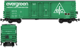 Evergreen Decals for the PCF 50' Insulated Boxcar