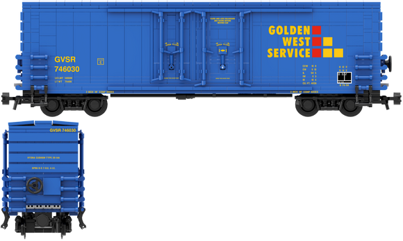 Golden West Service Decals for the PCF 50' Insulated Boxcar