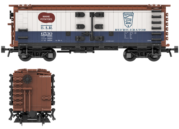 Bangor & Aroostook Decals for the R-30-9 and R-40-9 Reefer