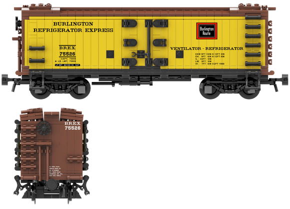 Burlington Refrigerator Express Decals for the R-30-9 and R-40-9 Reefer