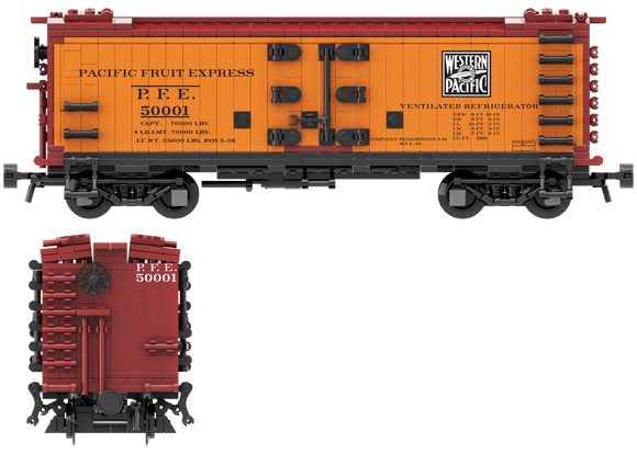 Pacific Fruit Express, Western Pacific Decals for the R-30-9 and R-40-9 Reefer